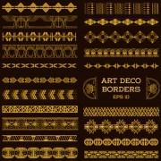 Link toDeco art borders golden vector
