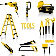 Link toDifferent construction tools set vector