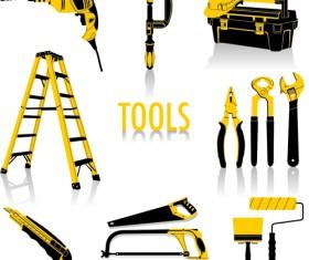 Different construction tools set vector