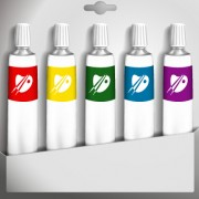 Link toDifferent dyestuff paints vector material 02