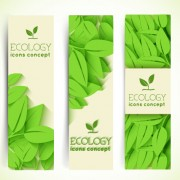 Link toEcology banner green style vector 02