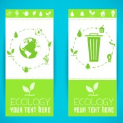 Link toEcology banner green style vector 03
