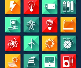 Electricity icons creative vector 01