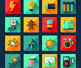 Electricity icons creative vector 02