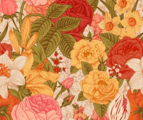Elegant retro floral vector seamless pattern 05