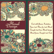 Link toEthnic patterns style invitation cards vector 03