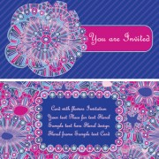Link toEthnic patterns style invitation cards vector 04