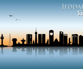 Famous cities silhouette creative vector 01