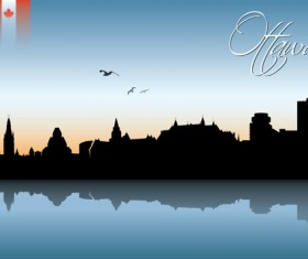 Famous cities silhouette creative vector 04