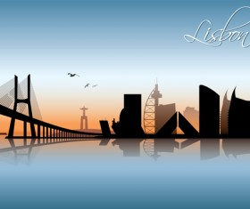 Famous cities silhouette creative vector 05