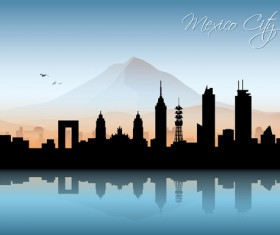 Famous cities silhouette creative vector 08