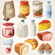 Link toFast food icons set vector graphics 01
