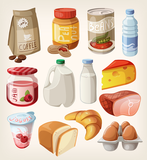 fast food icons set vector graphics 01 free download