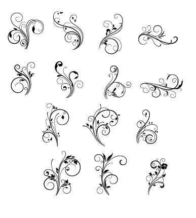 Floral Swirls Ornament Vector Free Download