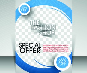 Flyer and cover brochure with magazine vector illustration 01