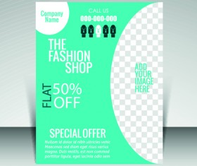Flyer and cover brochure with magazine vector illustration 02