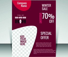 Flyer and cover brochure with magazine vector illustration 05