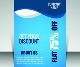 Flyer and cover brochure with magazine vector illustration 07