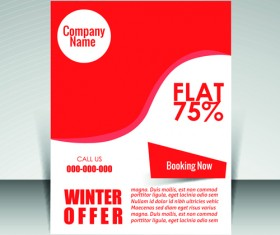 Flyer and cover brochure with magazine vector illustration 09