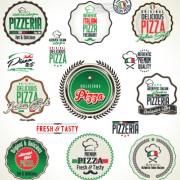 Link toFresh pizza labels vector