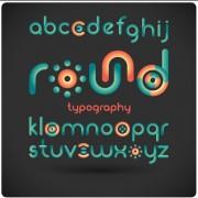 Link toFunny alphabet font vector design