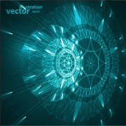 Link toFuturistic tech object vector background