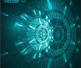 Futuristic tech object vector background