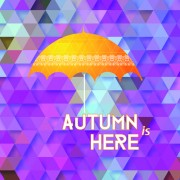 Link toGeometric polygonal with autumn background vector 01