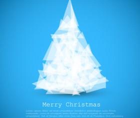Geometric shapes christmas tree background