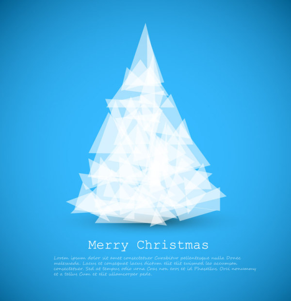 Geometric shapes christmas tree background