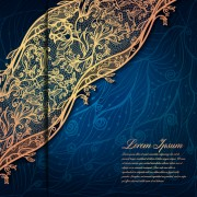 Link toGold lace with blue background vector