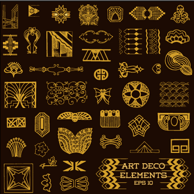 Elements Art Vector Materoal 02 Download Name Golden Deco Elements Art