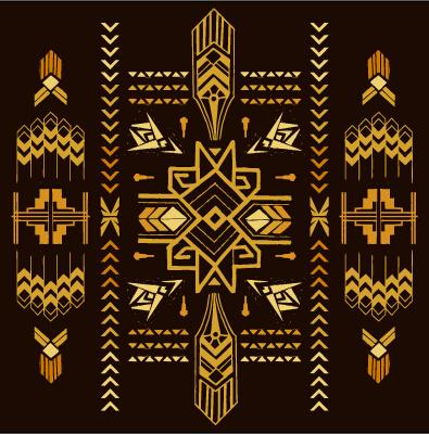 Golden Deco Elements Art Vector Materoal 03 Vector Label
