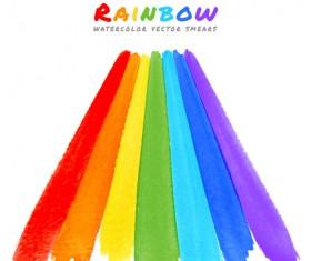 Graffiti watercolor rainbow vector background 02