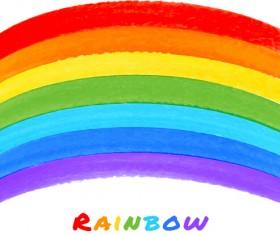 Graffiti watercolor rainbow vector background 03