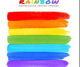 Graffiti watercolor rainbow vector background 05