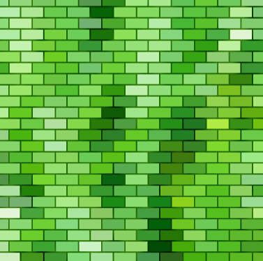 Green Brick Wall Texture Background Vector Vector