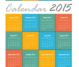 Grid calendar 2015 vector design 04