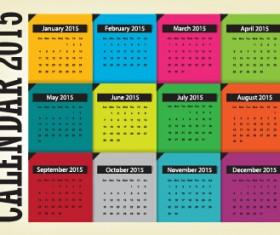 Grid calendar 2015 vector design 05