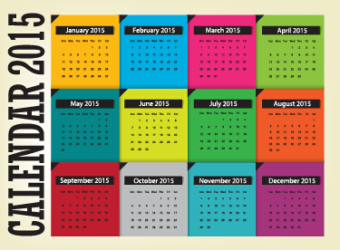 grid calendar 2015 vector design 05
