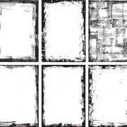 Link toGrunge black frame vector material set 02