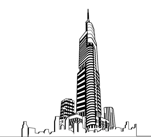 architectural drawings of skyscrapers. Beautiful Skyscrapers Hand Drawing Skyscrapers Design Vector With Architectural Drawings Of Skyscrapers L