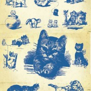 Link toHand drawing vintage kittens vector material
