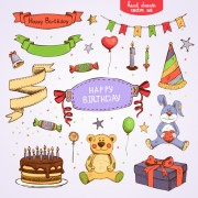 Link toHand drawn happy birthday elements vector