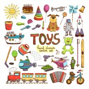 Link toHand drawn toys elements vector 03