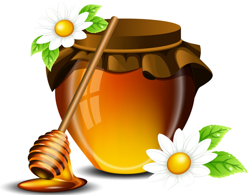 Jar With Honey Vector Graphics 03 Vector Food Free Download
