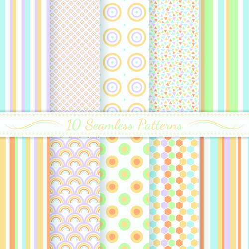 Light colored seamless pattern creative graphics vector 01
