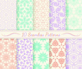 Light colored seamless pattern creative graphics vector 03
