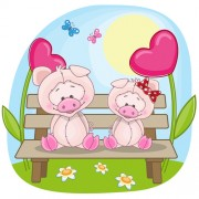 Link toLovers lovely animals vector set 03