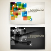 Modern tech background business cards vector